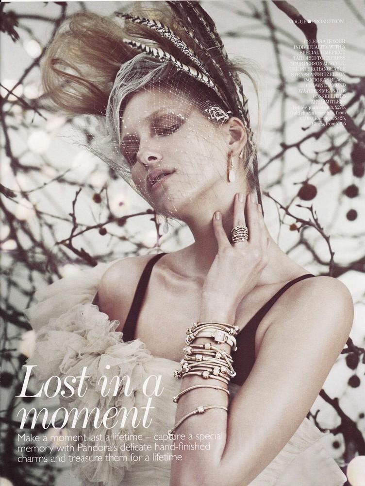 VOGUE UK Magazine August 2011 - Diamond Tulle Gown