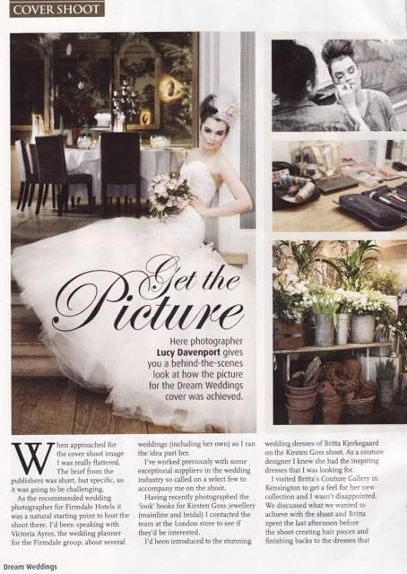 Dream Weddings 2012 - Behind the Shoot Article - 2/2