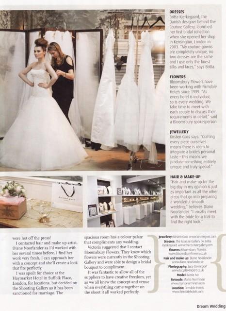 Dream Weddings 2012 - Behind the Shoot Article - 1/2