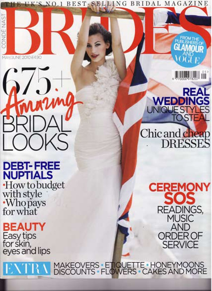 Brides Magazine May/June 2010 - Diamond tulle gown - Cover