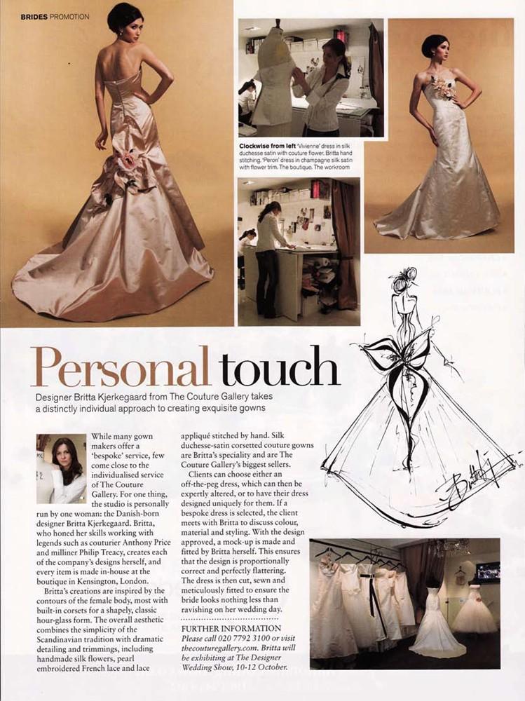 Brides Magazine Nov/Dec 2008 - Designer Profile