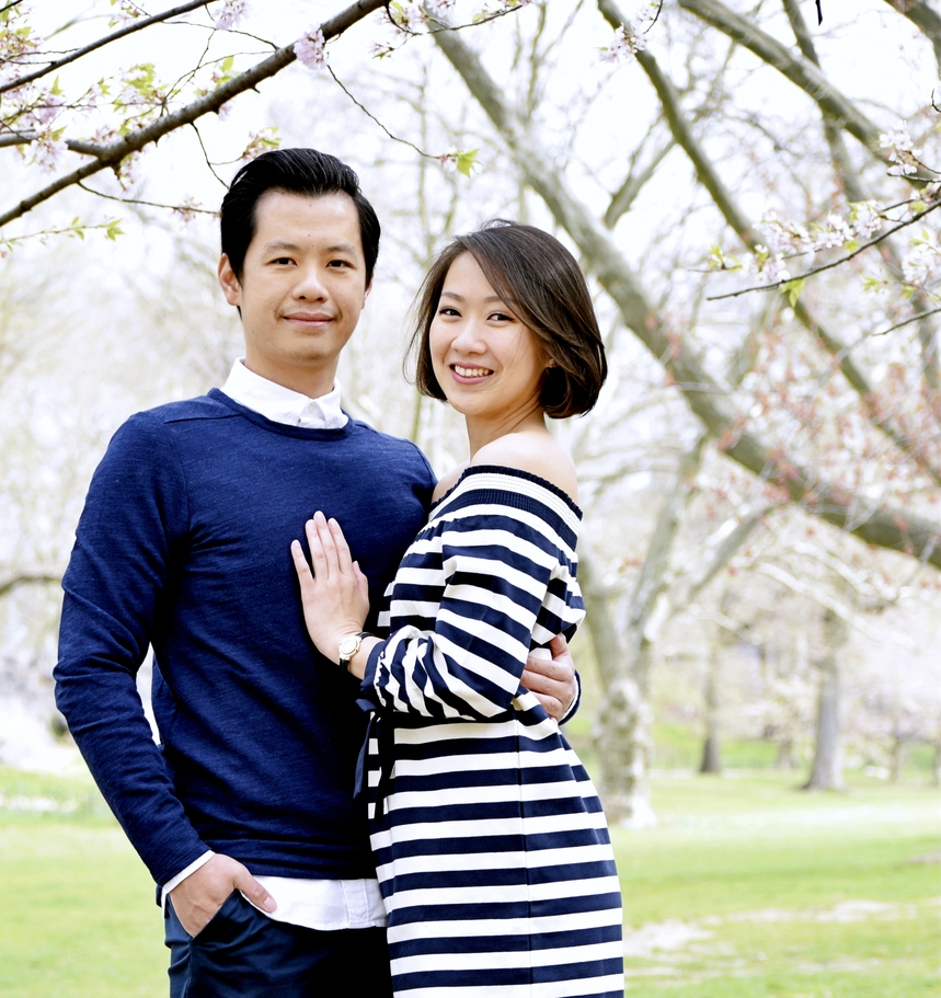 NYC Couple Engagement Photography Cherry Blossom Central Park