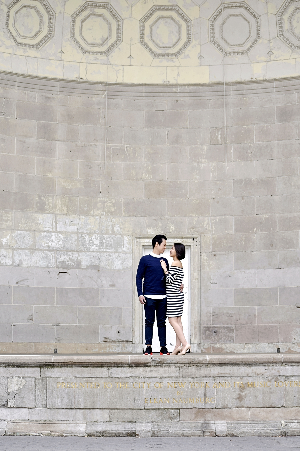 Literary Walk Stage Central Park Engagement Photography NYC