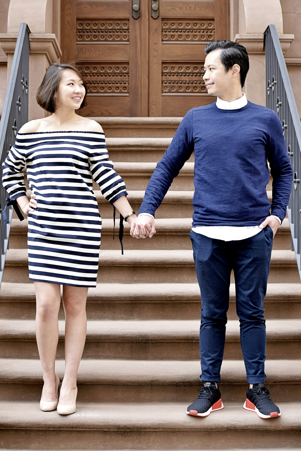 City Chic Engagement Photography Townhouse NYC