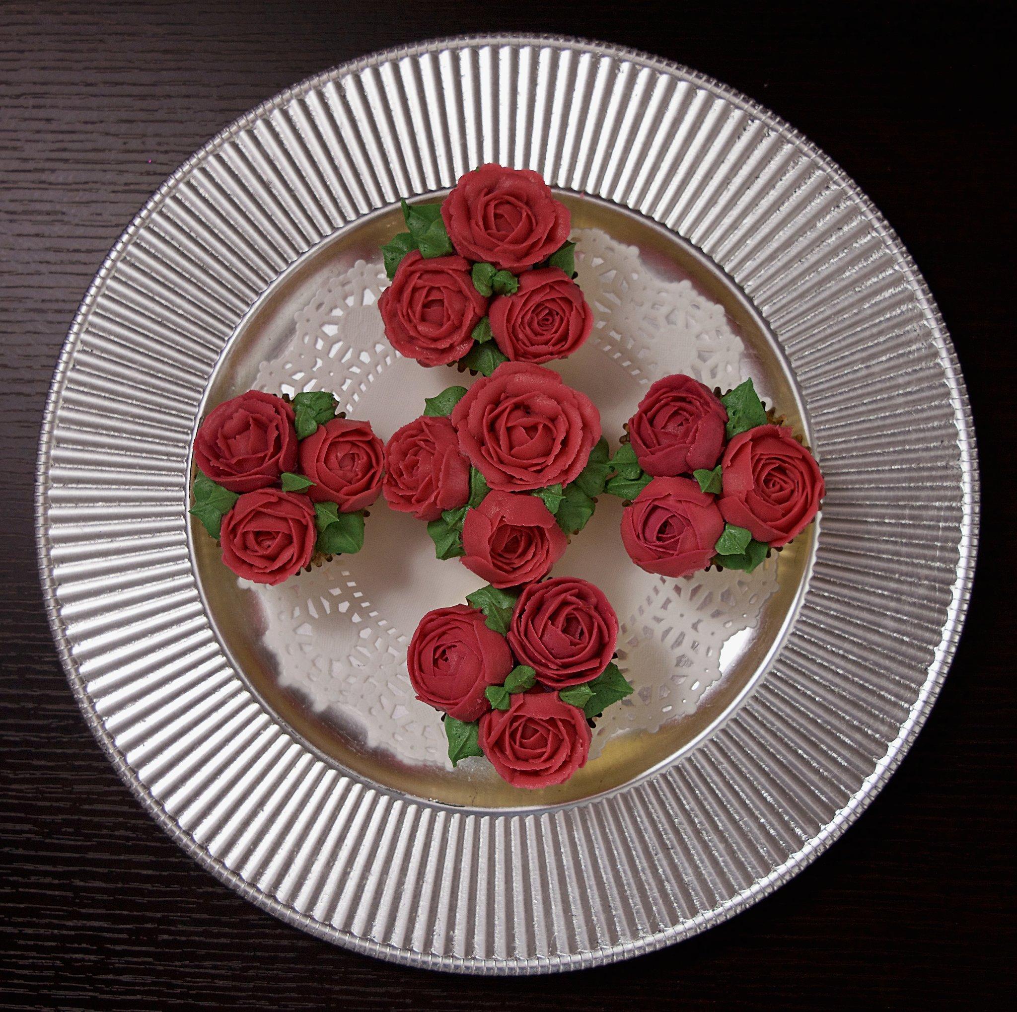 Custom Flower Cupcakes