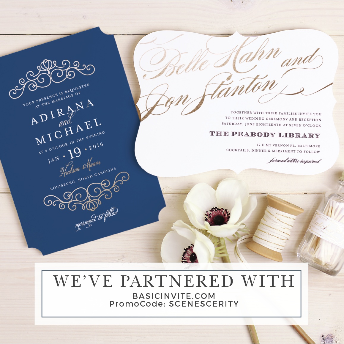 basic invite wedding save the date discount code.jpg