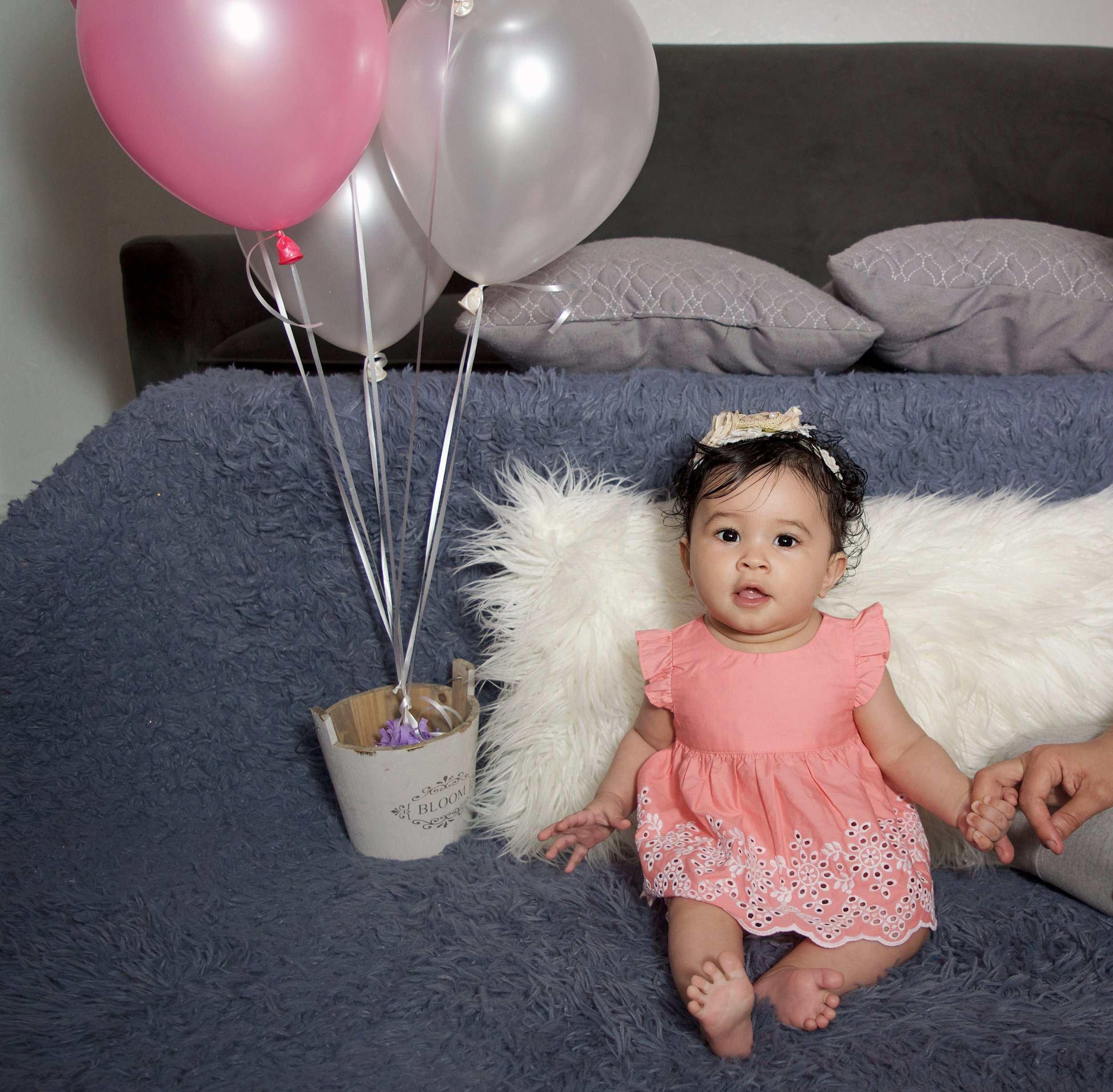 Baby girl portrait, New York, Custom Balloons