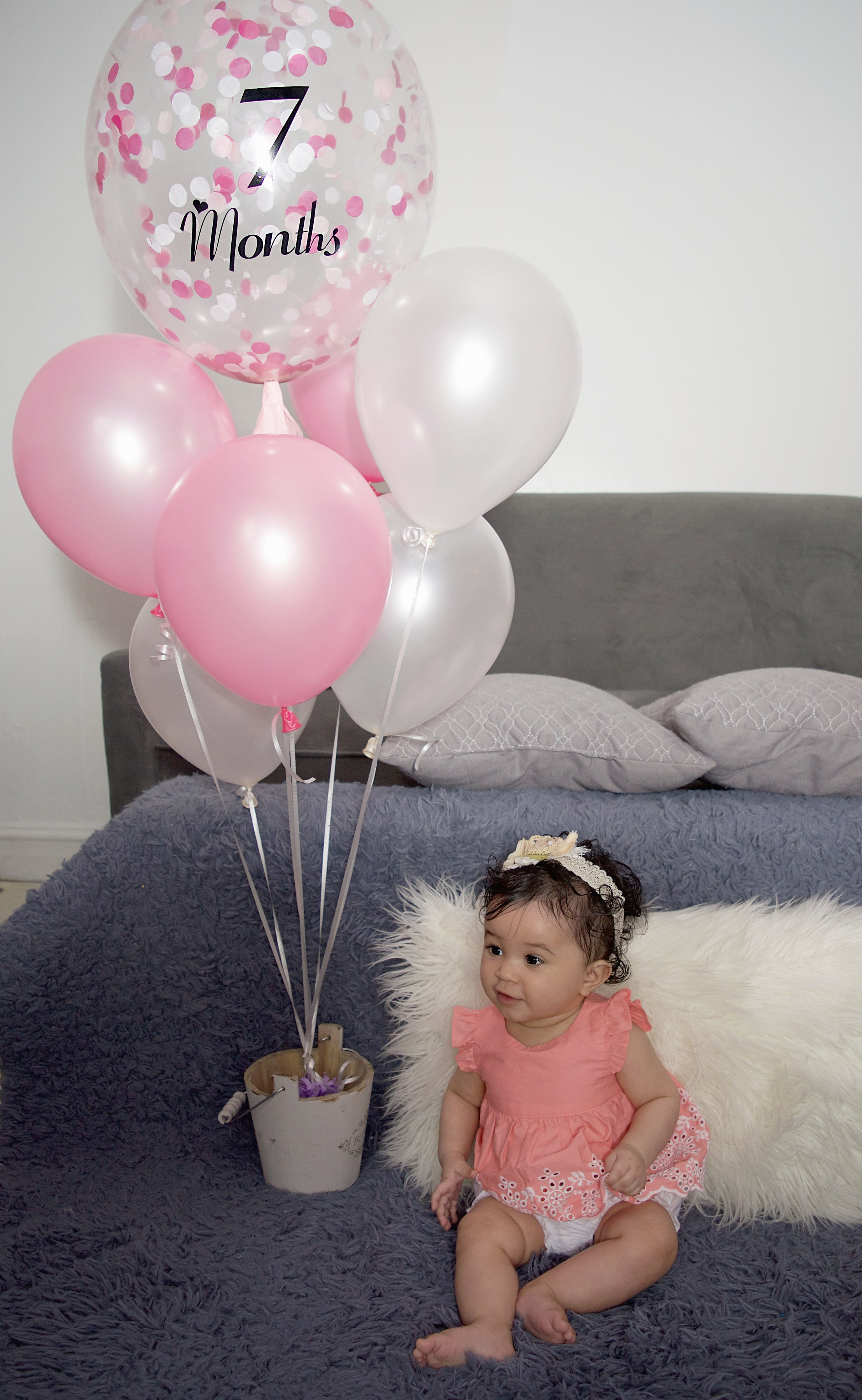 Baby girl portrait, New York, Custom Balloons, Rose's Mama Creations