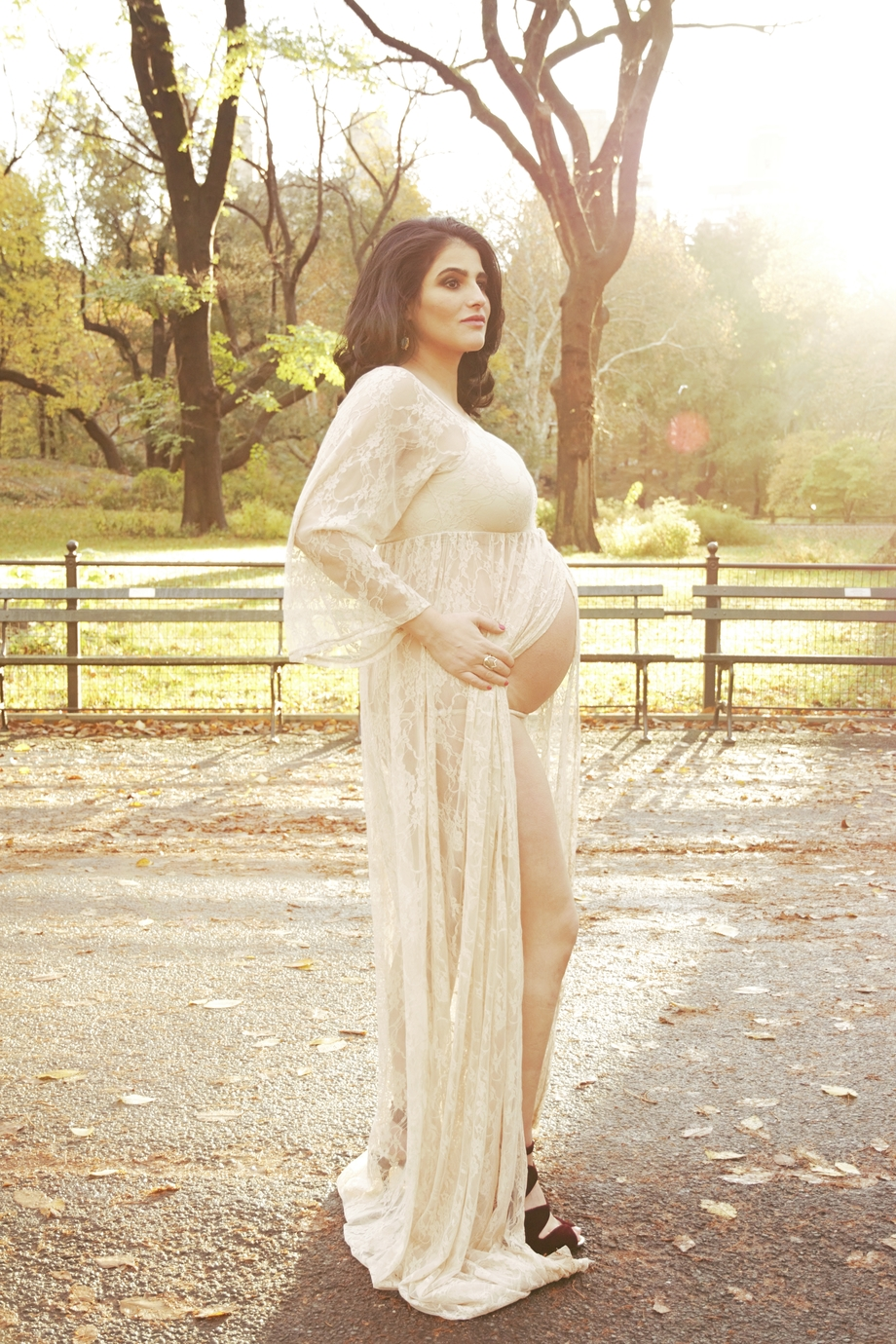 Glamour Maternity Photography, Central Park Motherhood Photosession