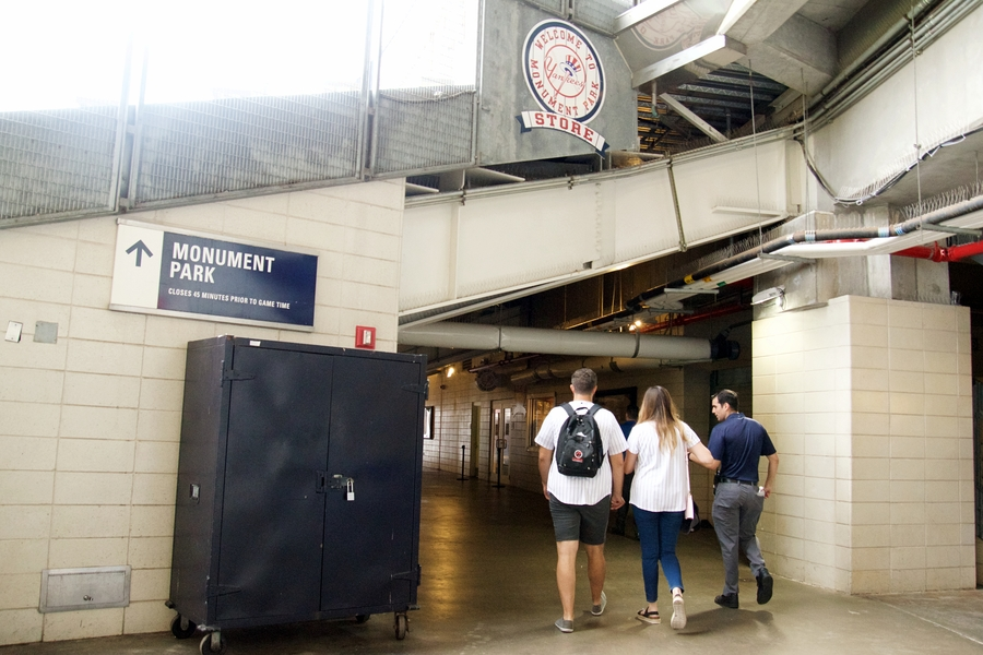 surprise proposal yankee stadium engagement