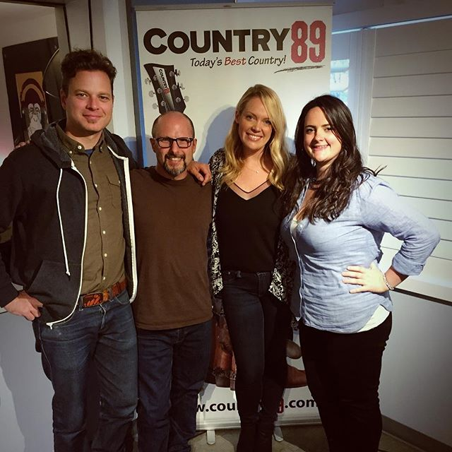 Thank you @country89_1 for having me in studio to sing for you today! So much fun meeting you too! #giveyouhell #sosmooth #radiotour