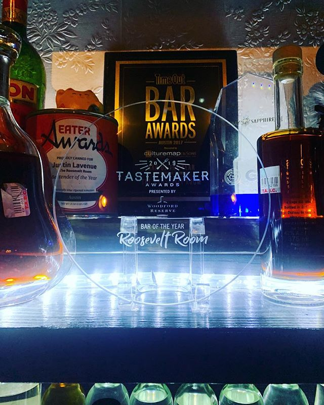 Last night we had the honor of being awarded as Austin's Best Bar at the @culturemapatx Tastemaker Awards. We could not be more honored by the recognition, and thank everyone who helps make this place so special. Cheers to you!
