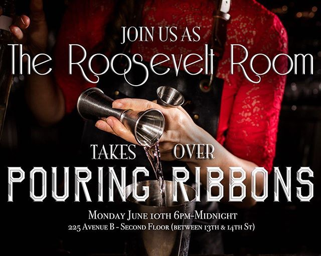 Next Monday, June 10th, our team will have the pleasure of making drinks behind the awe-inspiring Pouring Ribbons for their guests and attendees of Bar Convent Brooklyn. This takeover is a special one for us, as PR has been a establishment that we have modeled our program after since our opening in 2015. If you're in NYC for the conference, please join us on this special evening for some great drinks and good times in one of the most beautiful bars in the world. Cheers to you! . . #cheerstoyou #TheRooseveltRoomOnTheRoad #RoRoOnTheRoad #TheRooseveltRoomATX #TheRooseveltRoom #RooseveltRoomATX #PouringRibbons #PouringRibbonsNYC #NYC #popup #cocktailpopup #bartakeover #takeover #guestbarshift #guestbartending #BombaySapphire #bombaysapphiregin @bombaysapphire @bombaysapphireus