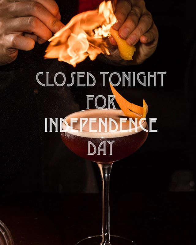 The Roosevelt Room will be closed tonight in observance of Independence Day. We hope you enjoy the fireworks and cheers to you! #TheRooseveltRoom #CheersToYou #happyindependenceday