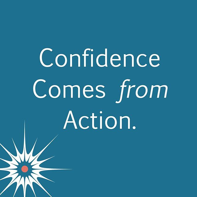 Most of us think we need confidence to take action. But, it actually works the other way around! Once you take that first step towards your goals, the confidence follows!! What goals are you not moving towards in your business? Let's chat! #businesscoaching #murphyslawsofbusiness
