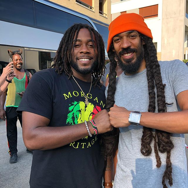 Switzerland🇨🇭link up with mi bredda @calipmusic it's always good to see musicals friends that's on the same mission of spreading positivity and love amongst mankind! 🌍 Safe troddings to you and the crew mi bredda! ✊🏿🦁🔥 @reedsfestival @grampsmorgan @dadasonentertainment @morganheritage @mpr.consulting