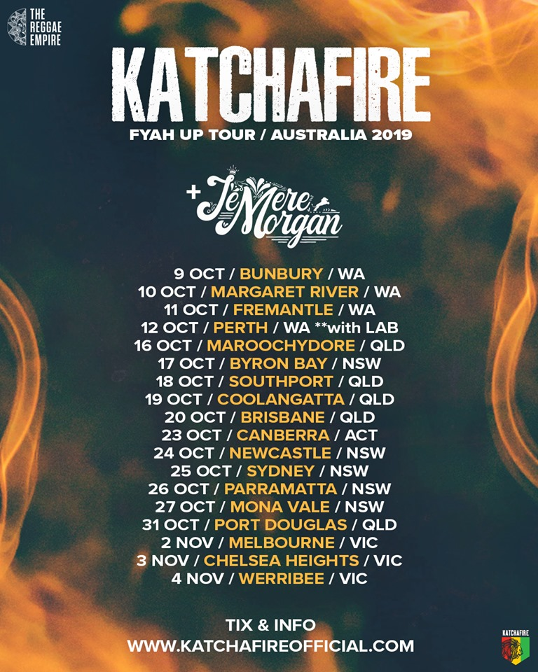 Jemere Heads to Australia for the 1st time w/Katchafire!#FyahUpTour