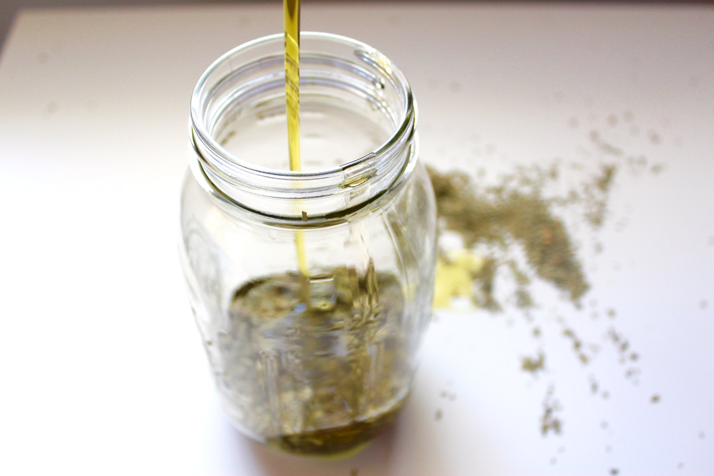 Olive oil induced with Neem leaves