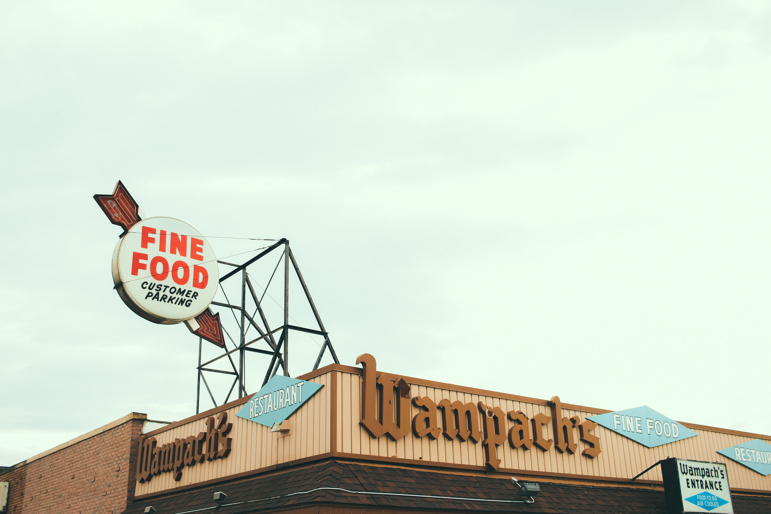 Wampach's iconic signage
