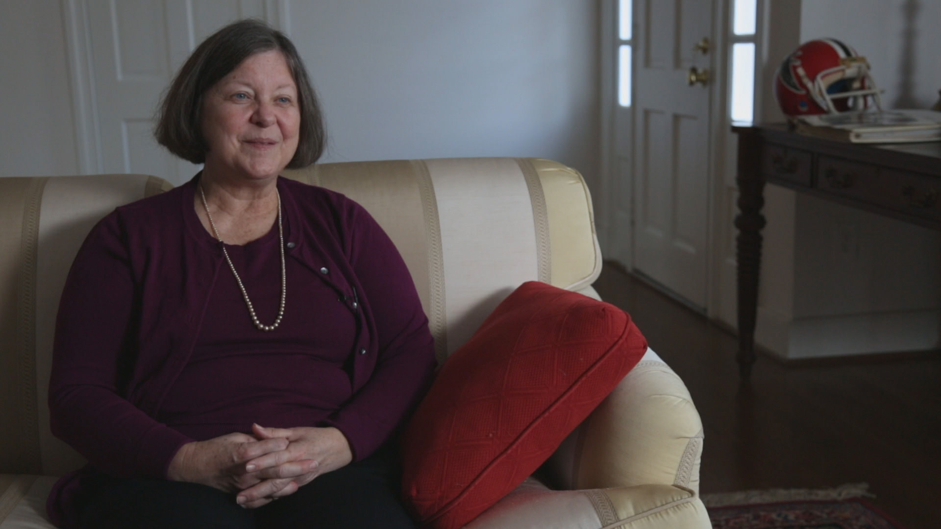 Mary Ann Easterling, the widow of former NFL player, Ray Easterling (December 2012)