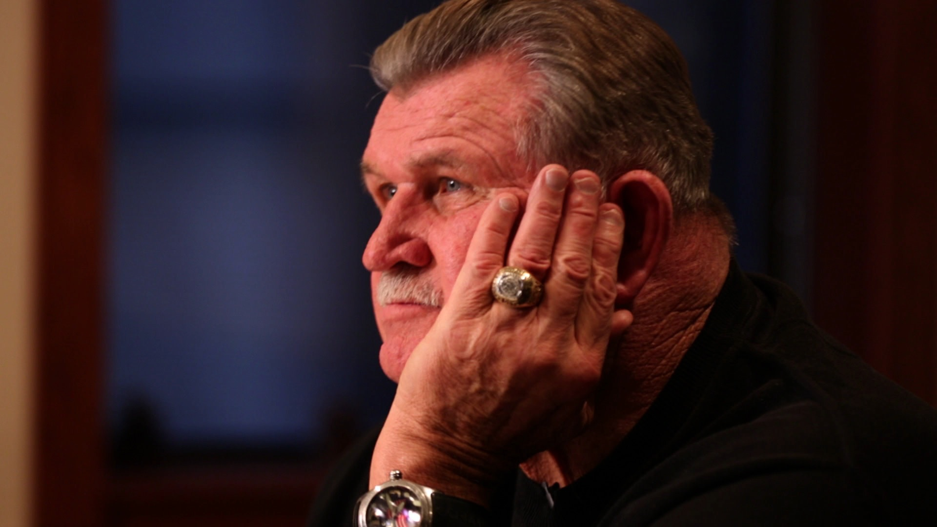 Mike Ditka, former NFL player, coach, and television commentator (November 2012)