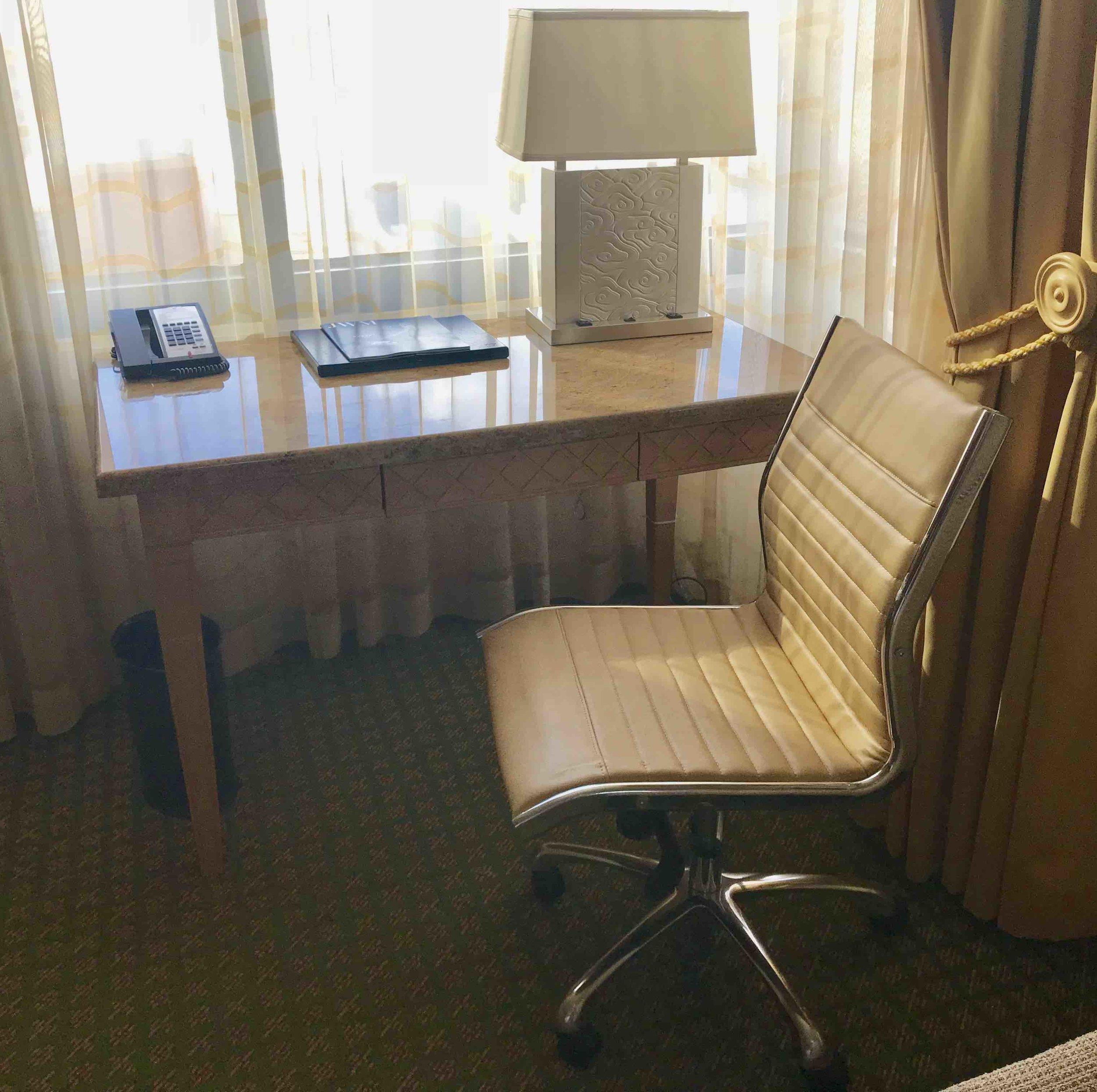 JW Granite Top Desk
