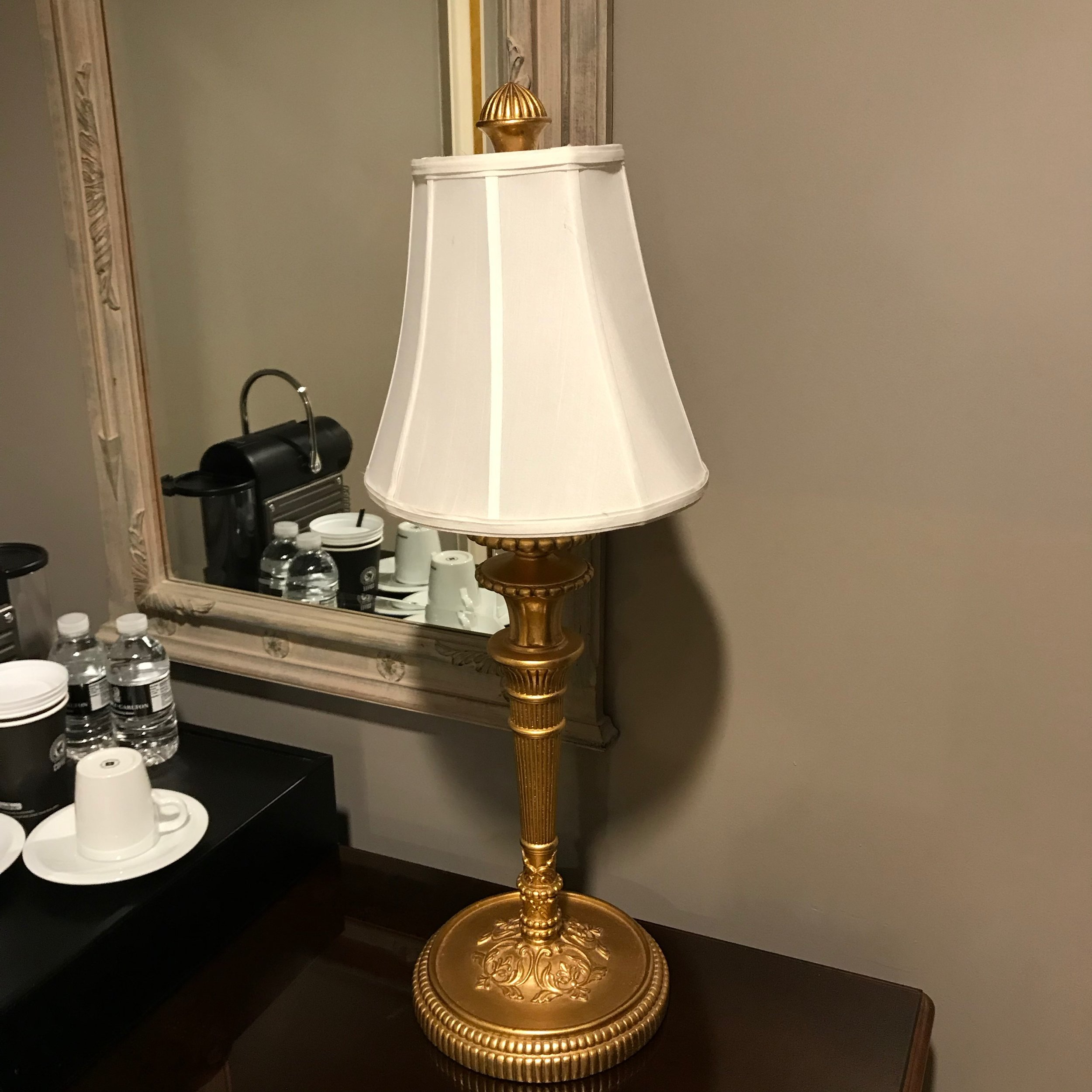 Gold Candlestick Table Lamp