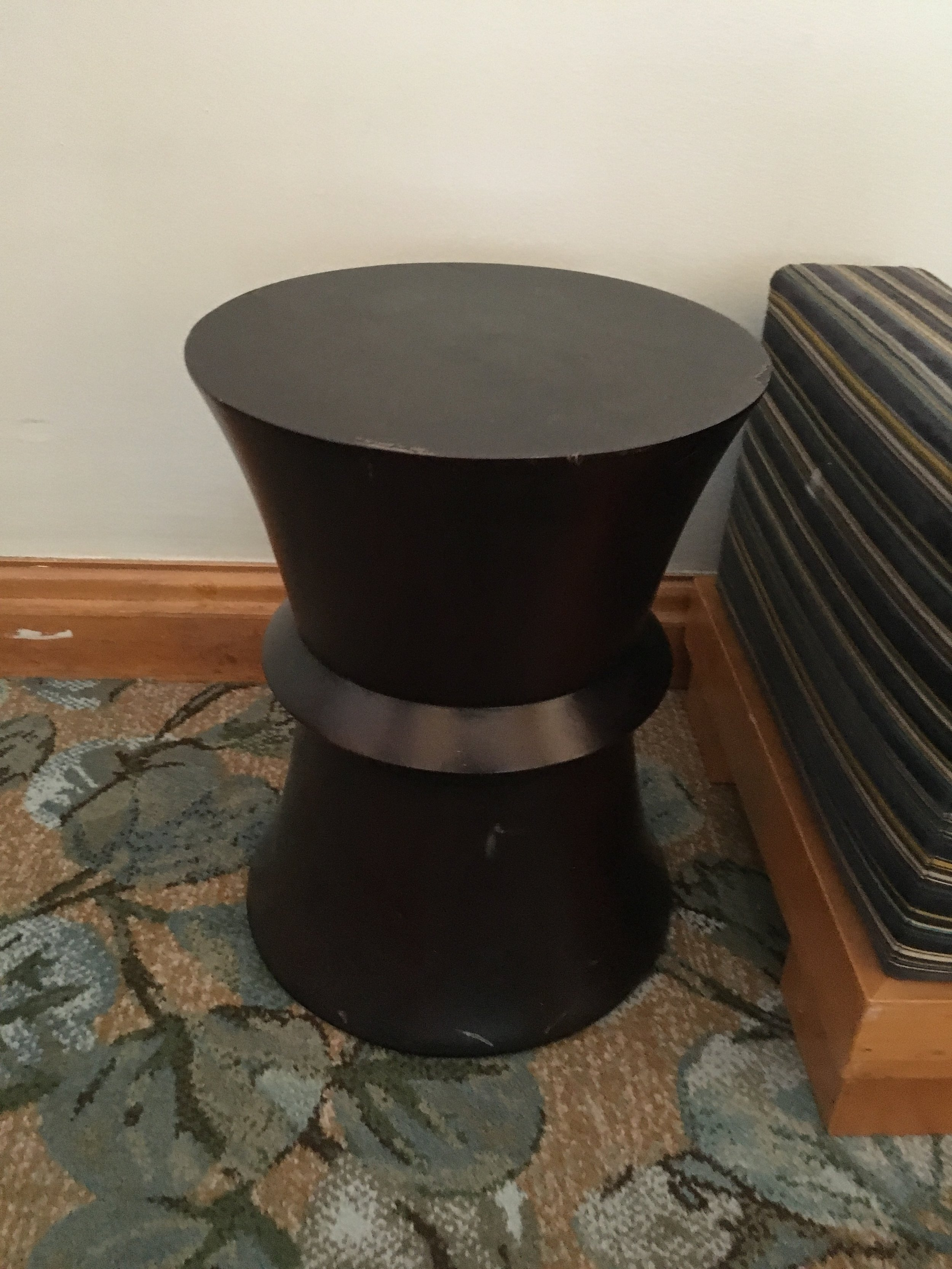 Small Round Drum Side Table