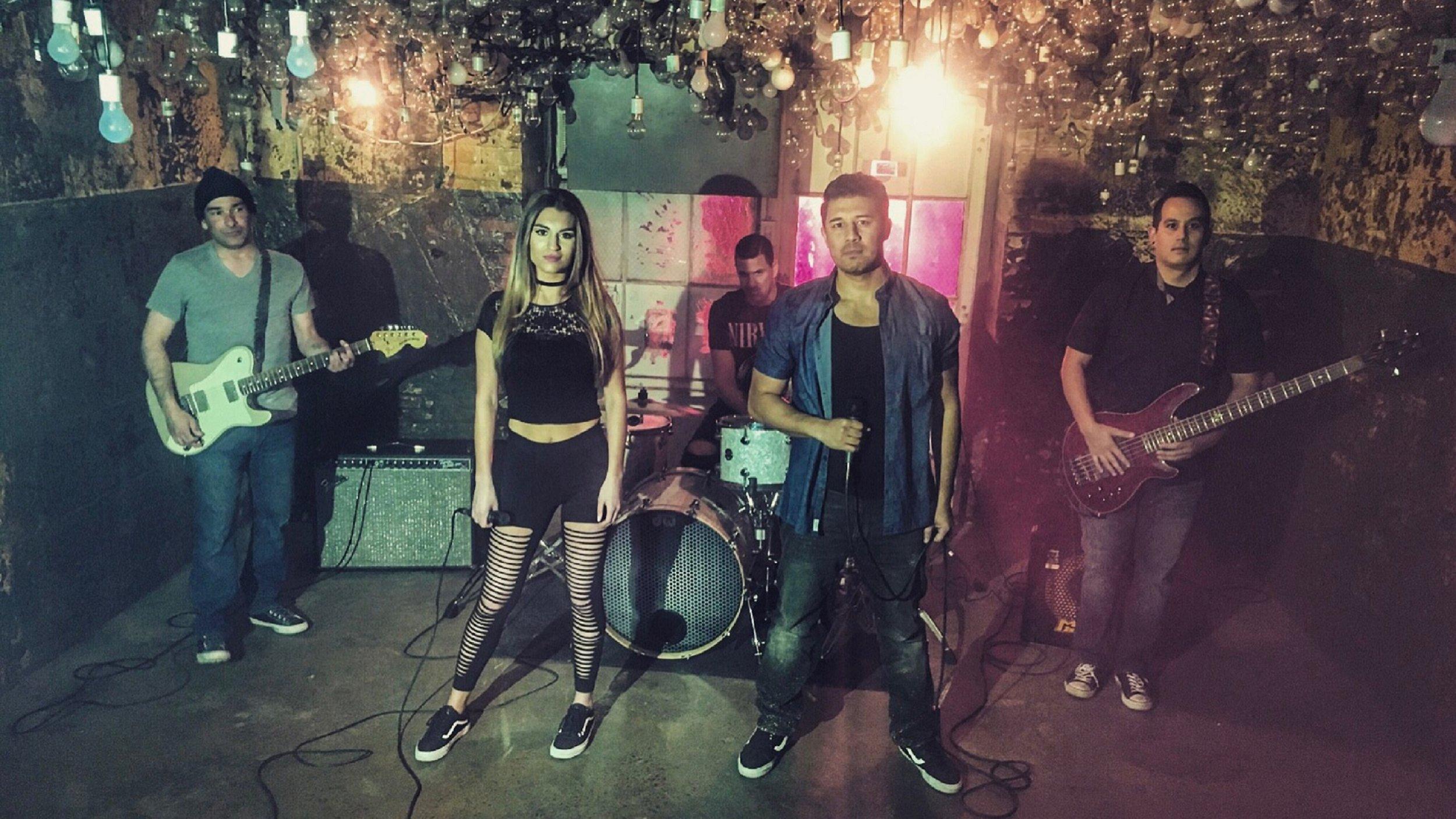 Members: Bryan Zamzam - Male vocals; Chelsea Rose - Female vocals; Andrew - Guitar; Christian Budiarjo - Bass; Rick - Drums