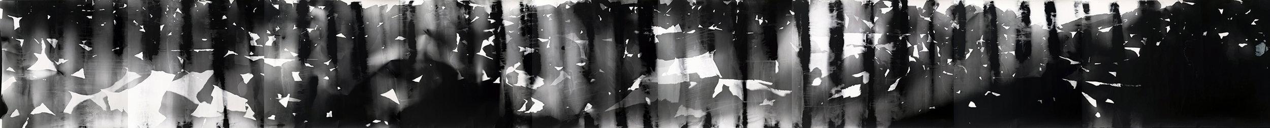 Fotograma positivado en laboratorio en Lima.10 metros x 1.06 metros.