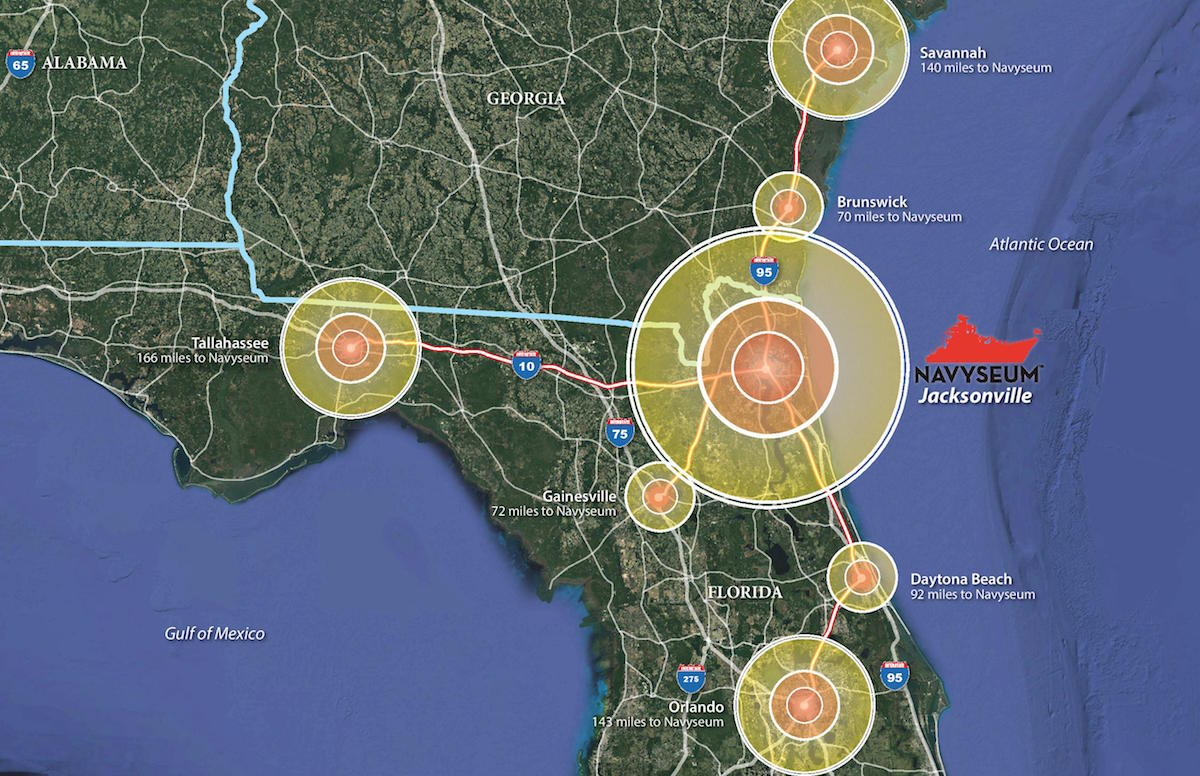 "Port NAVYSEUM at The Shipyards Jacksonville Coordinates 30°19'19.2"" N 81°38'38.3"" W"
