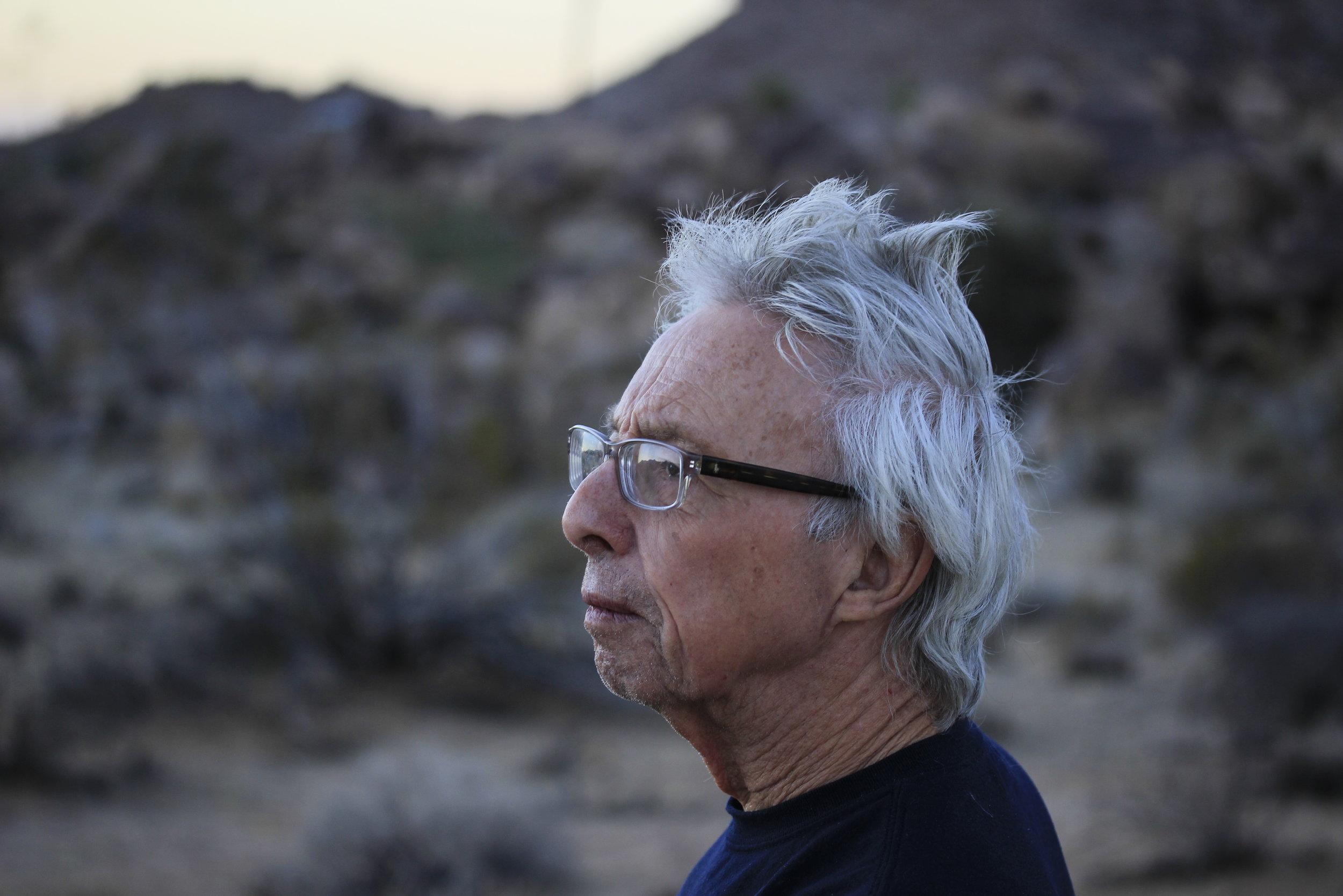 Photo of Harold Budd by Matthew Budd.