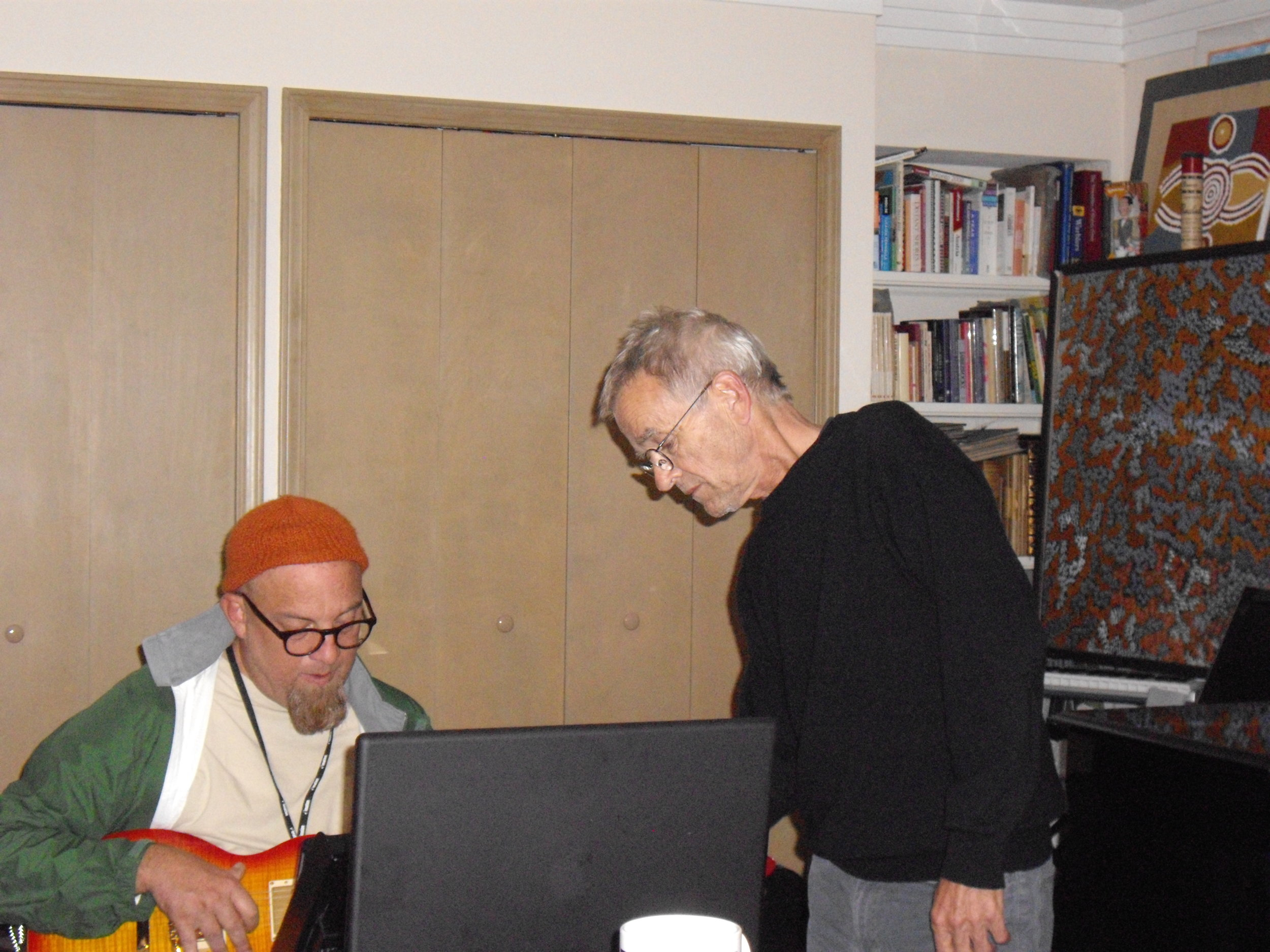 Dwight Ashley and Dieter Moebius recording  Objective Objects , Seventh Chance Studio, Maumee, Ohio