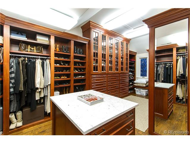 Custom Home walk-in closet