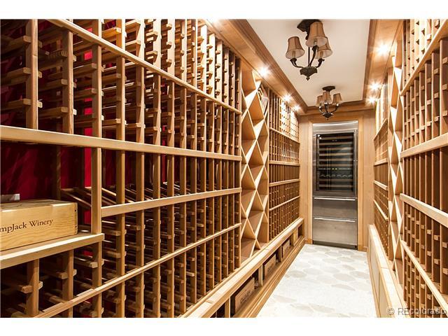 Custom Home Wine Room - Castle Pines, CO