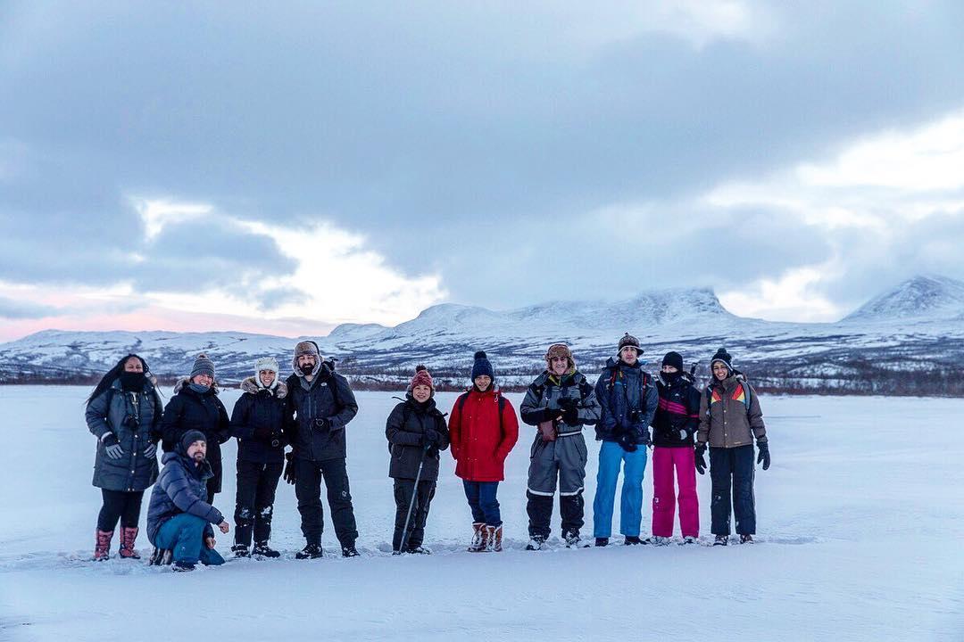 Photo Credit: NaBeela Washington (far left) in Sweden