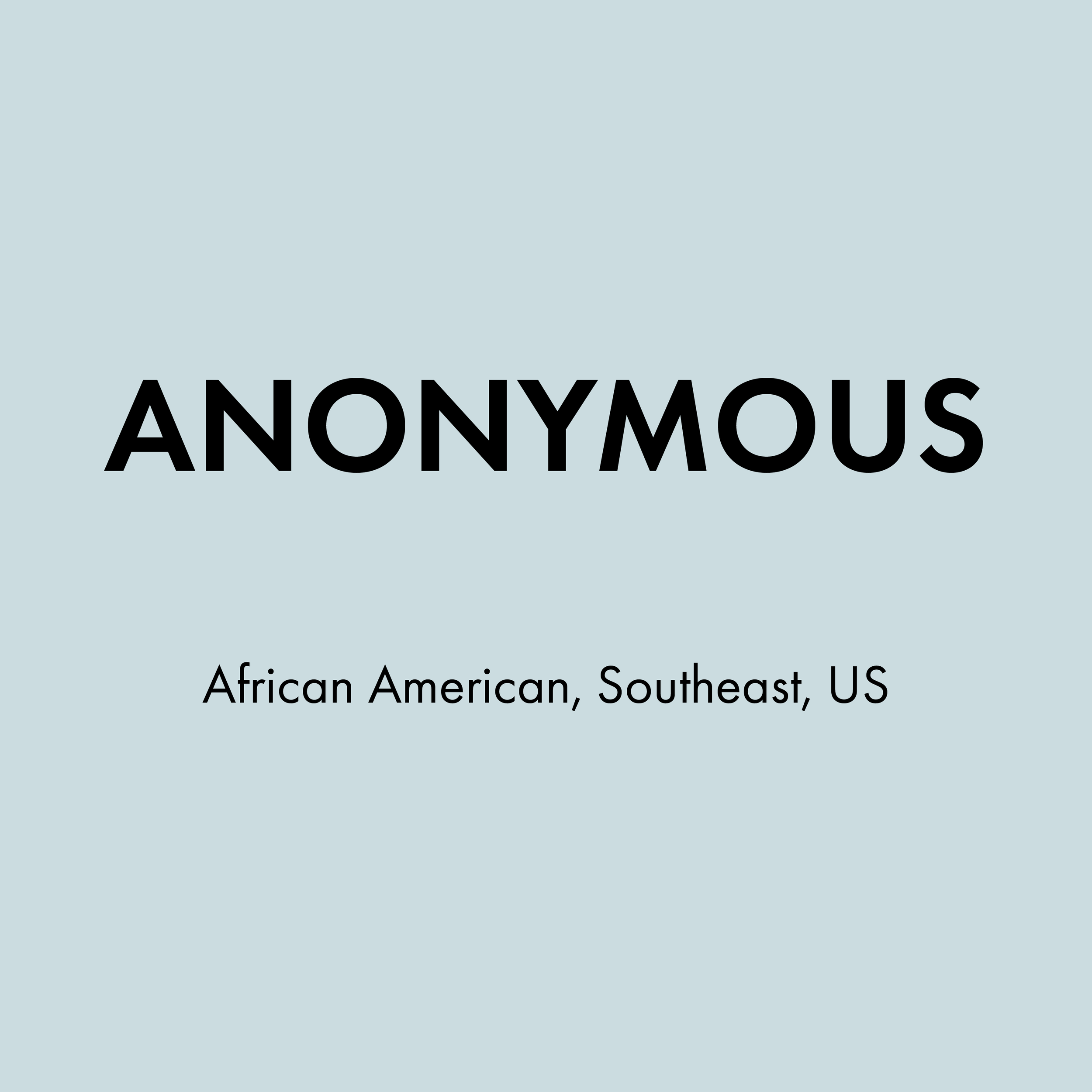 Anonymous, African American, Southeast, Micro-aggression.png