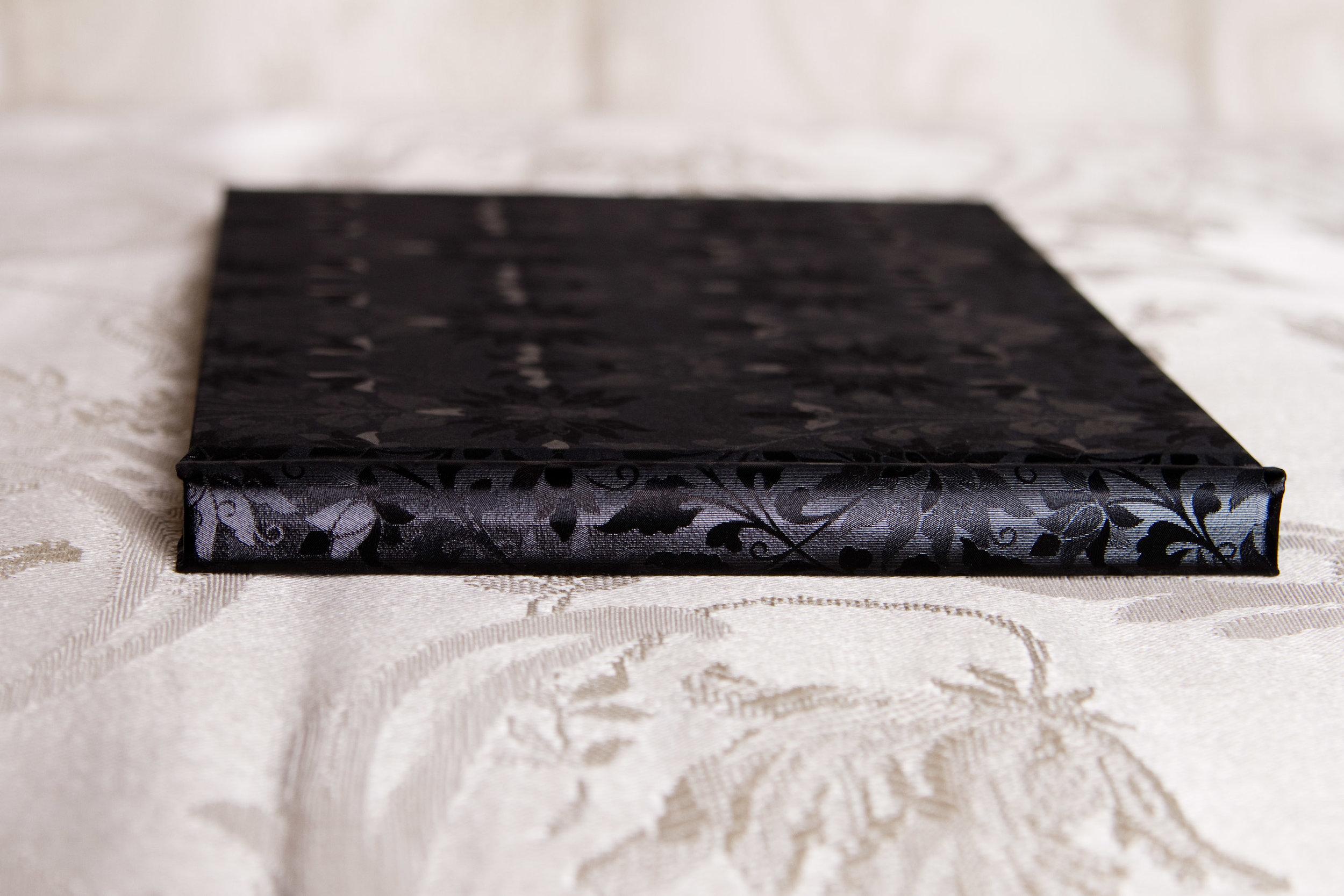 black floral album