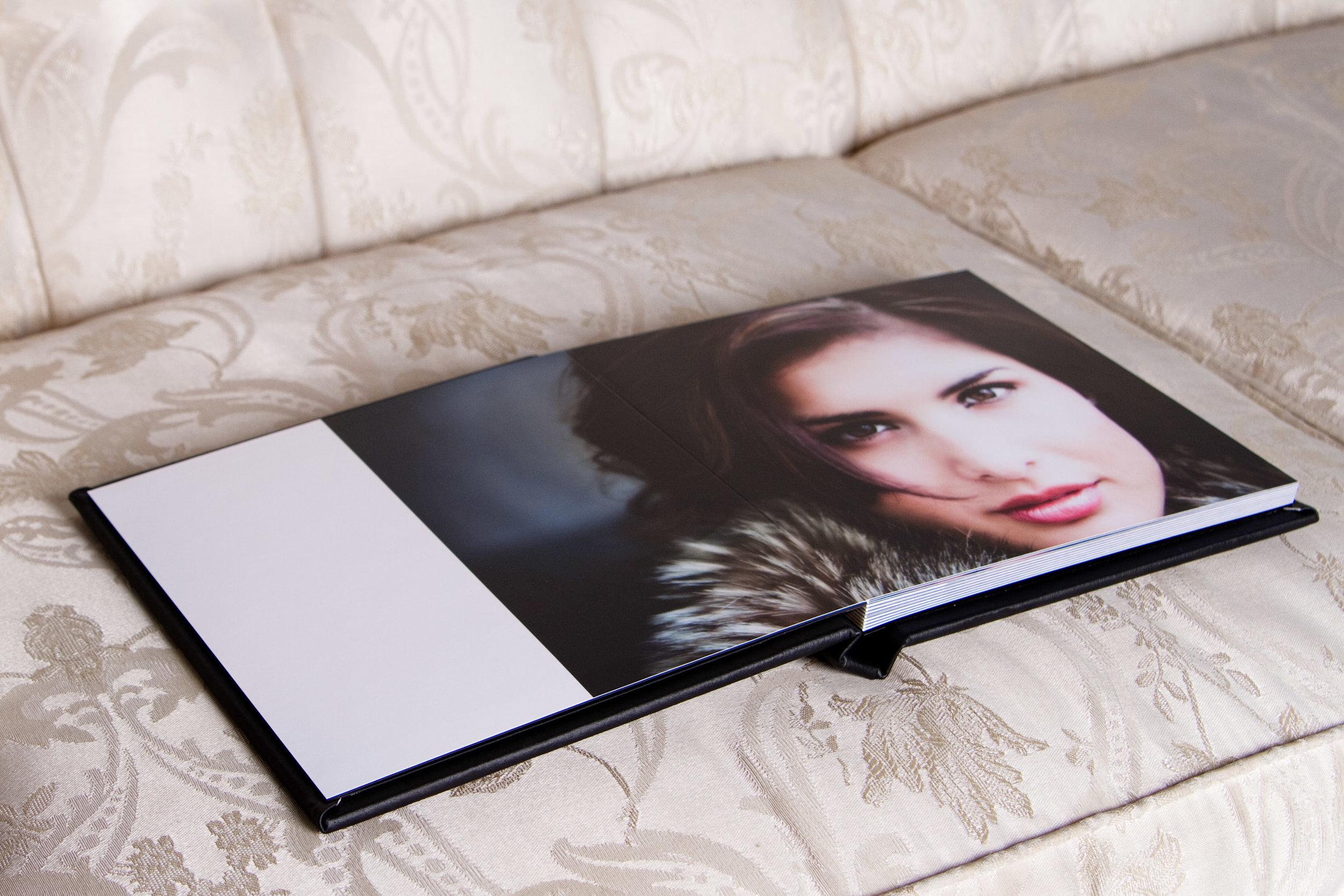 black leather album