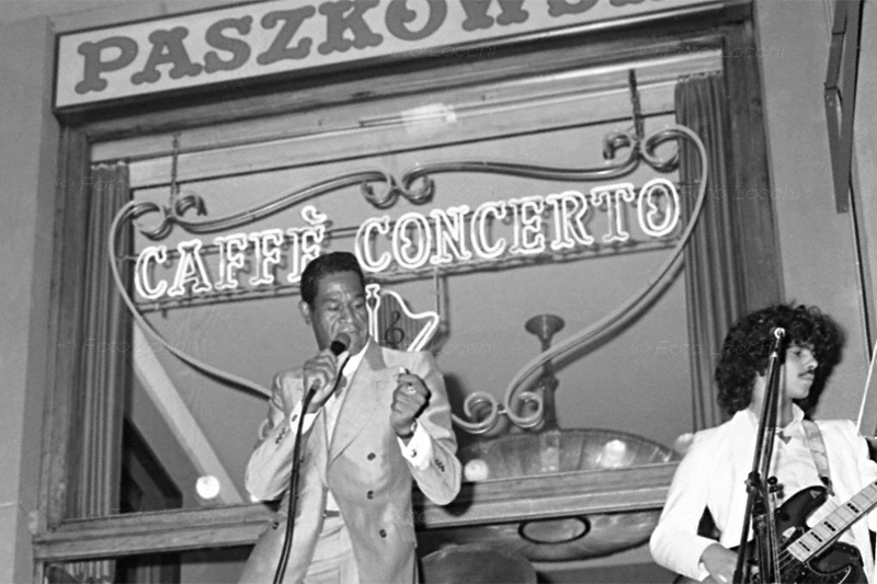 Caffè Concerto Paszkowski in una foto d'epoca