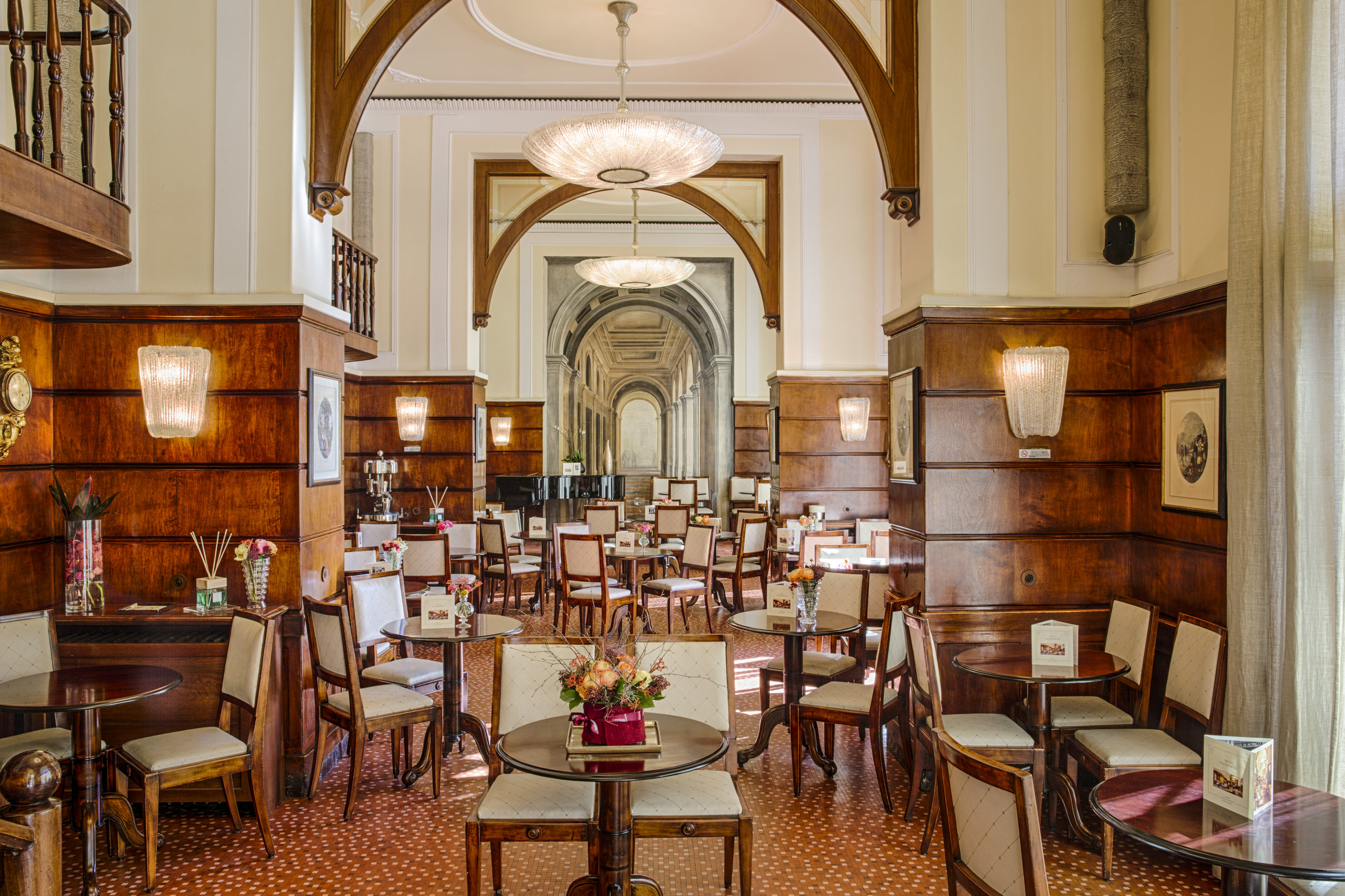 The restaurant hall