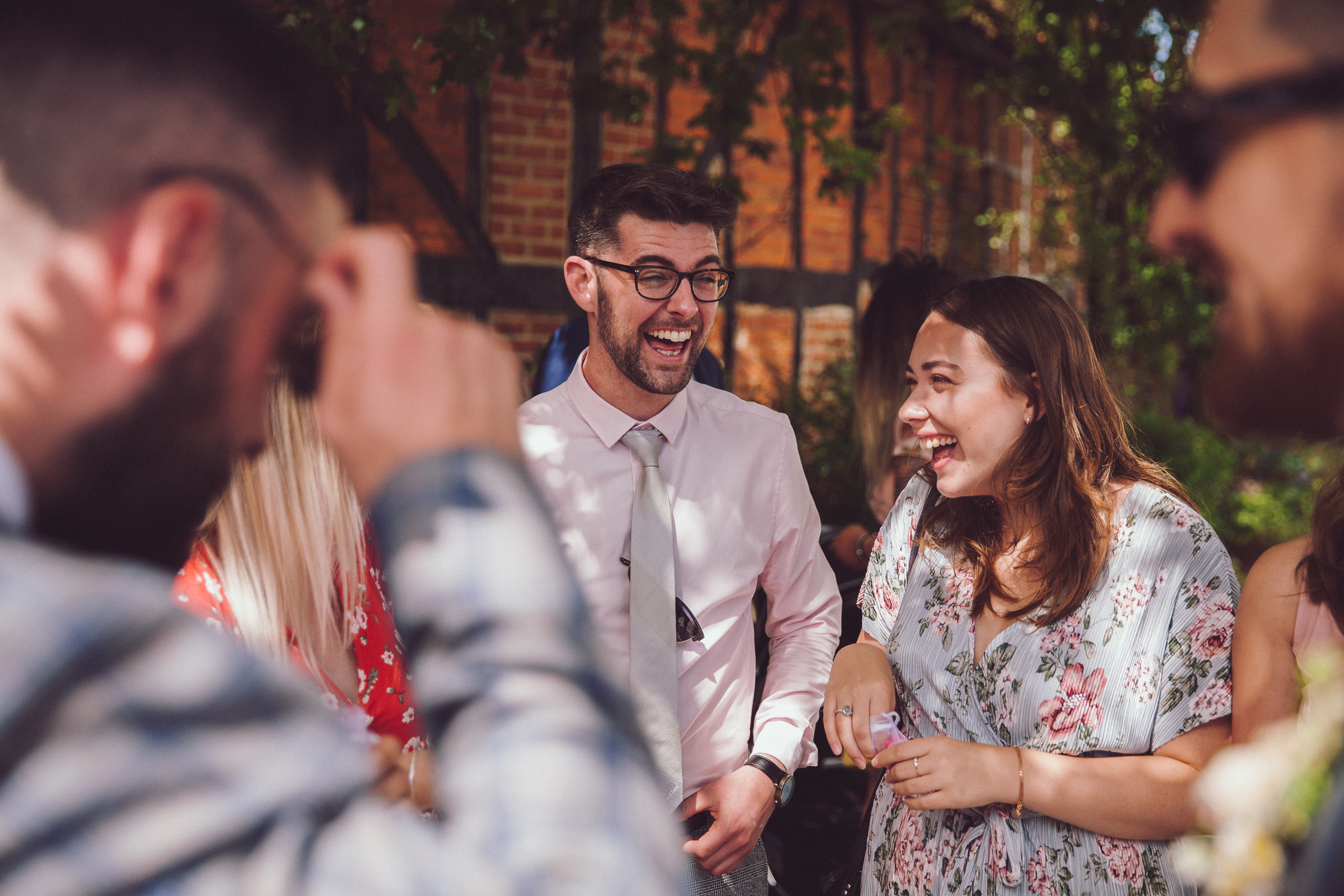 Guest enjoying themselves at the barns hotel Bedfordshire, Wedding photographer Richard Puncheon on hand capturing moments.
