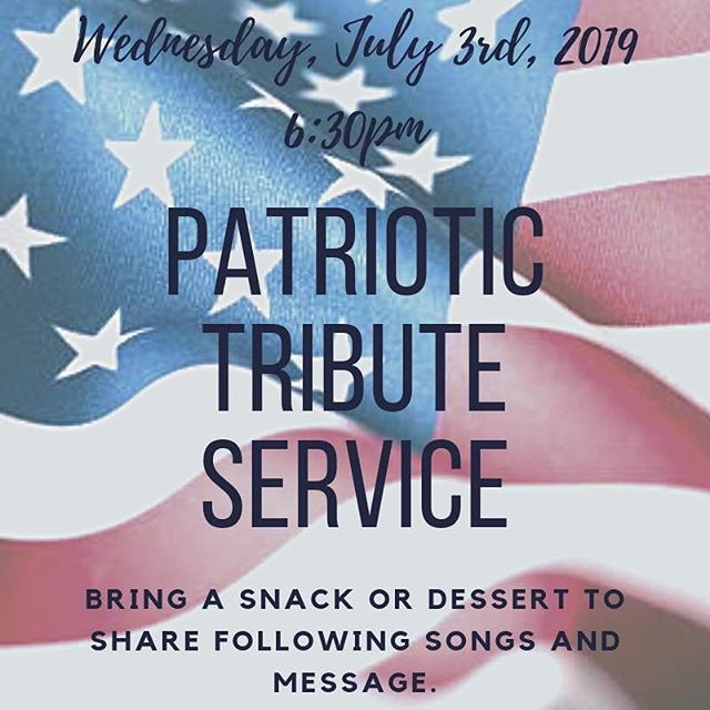 Join us tomorrow night for praising God for what He has done for us and our country! Bring your family and friends and enjoy some tasty treats afterward! Hope to see you there. @durhammemorial @durhamnc #dmbcamplifiedstudents #durhamnc #wearenealmiddle #southernhighschool #godandcountry #starsandstripes #redwhiteandblue