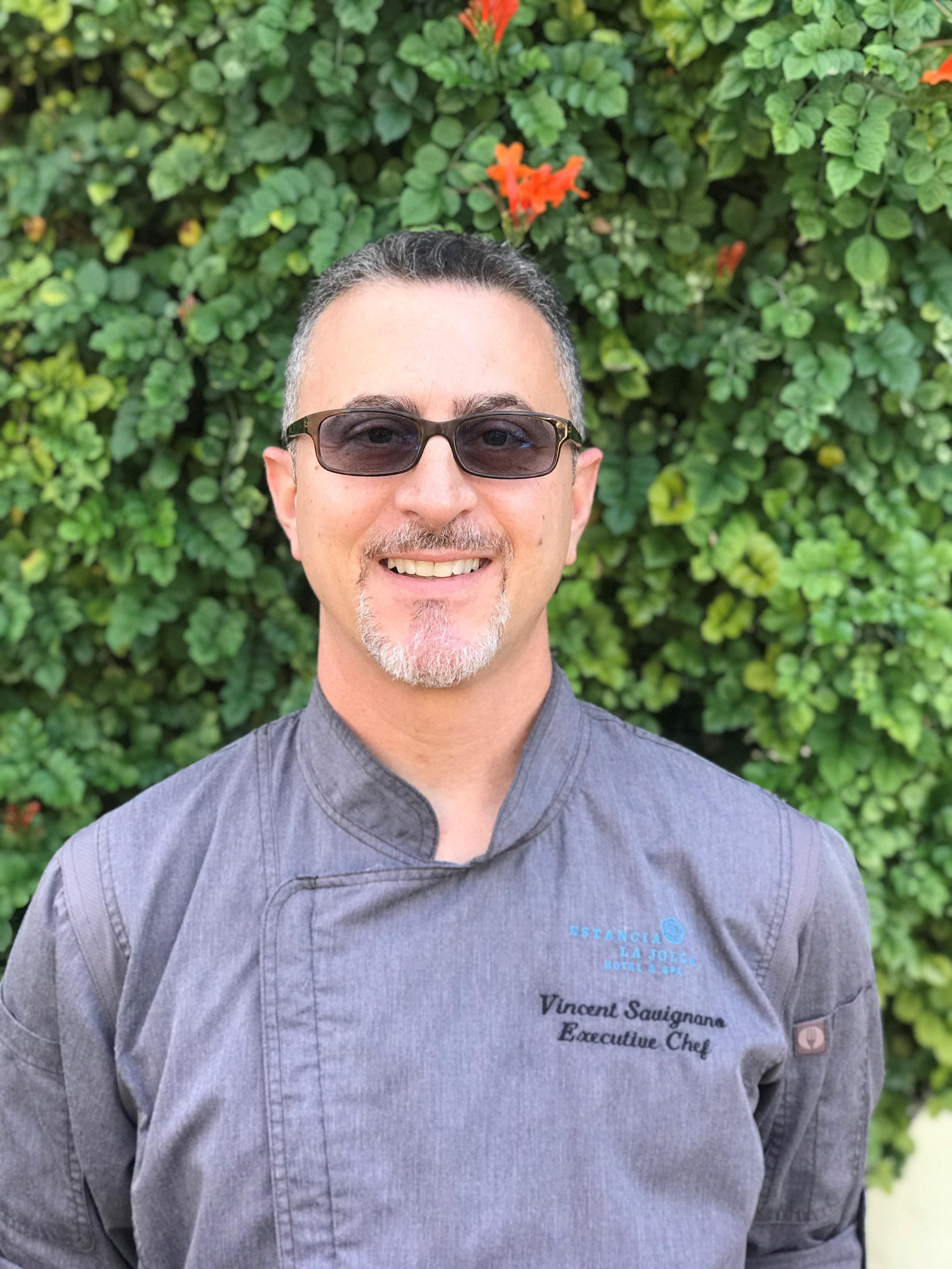 """Chef Vincent - * Cooking demonstration & wine pairingChef Vincent of Estancia La Jolla has more than 25 years of experience in the culinary + hospitality industries. He will bring in his simple theory of """"fresh, simple, no fuss"""" to our cooking class. He will be pairing each course with Trinitas Wines.Check out the menu he curated for our retreat in our detailed retreat schedule."""