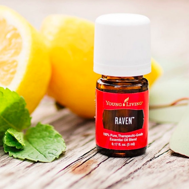 Raven - Respiratory supportHow to use: put in a diffuser, rub a drop on your chest, neck & throat, or add a few drops to a steamy shower for easy breathing.