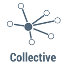 The word Collective with an icon of spokes feeding into a central hub