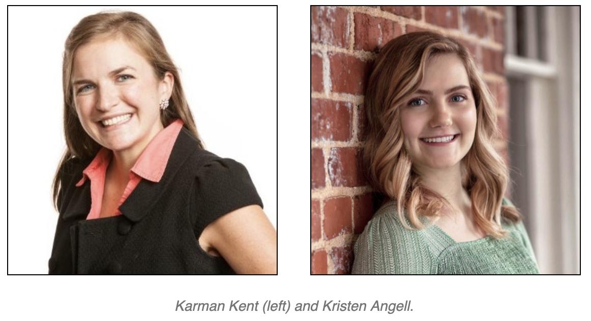 Karman Kent and Kristen Angell head shots.