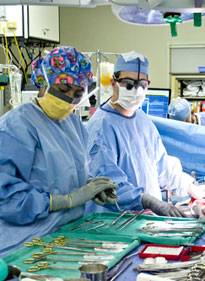 Dr. Adams in the EUH Operating Room