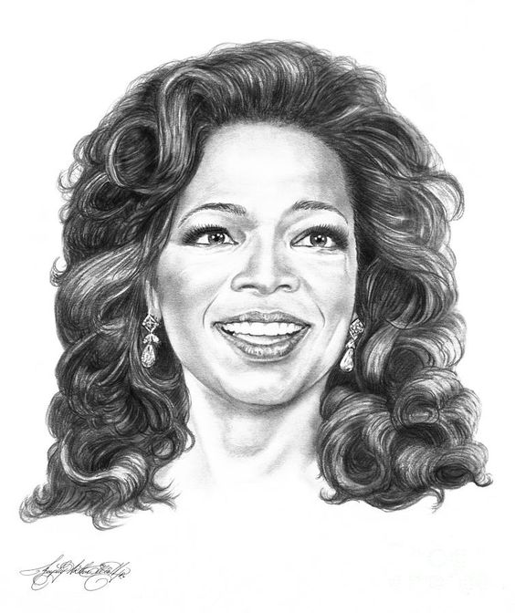 Oprah Winfrey drawing by Murphy Elliott