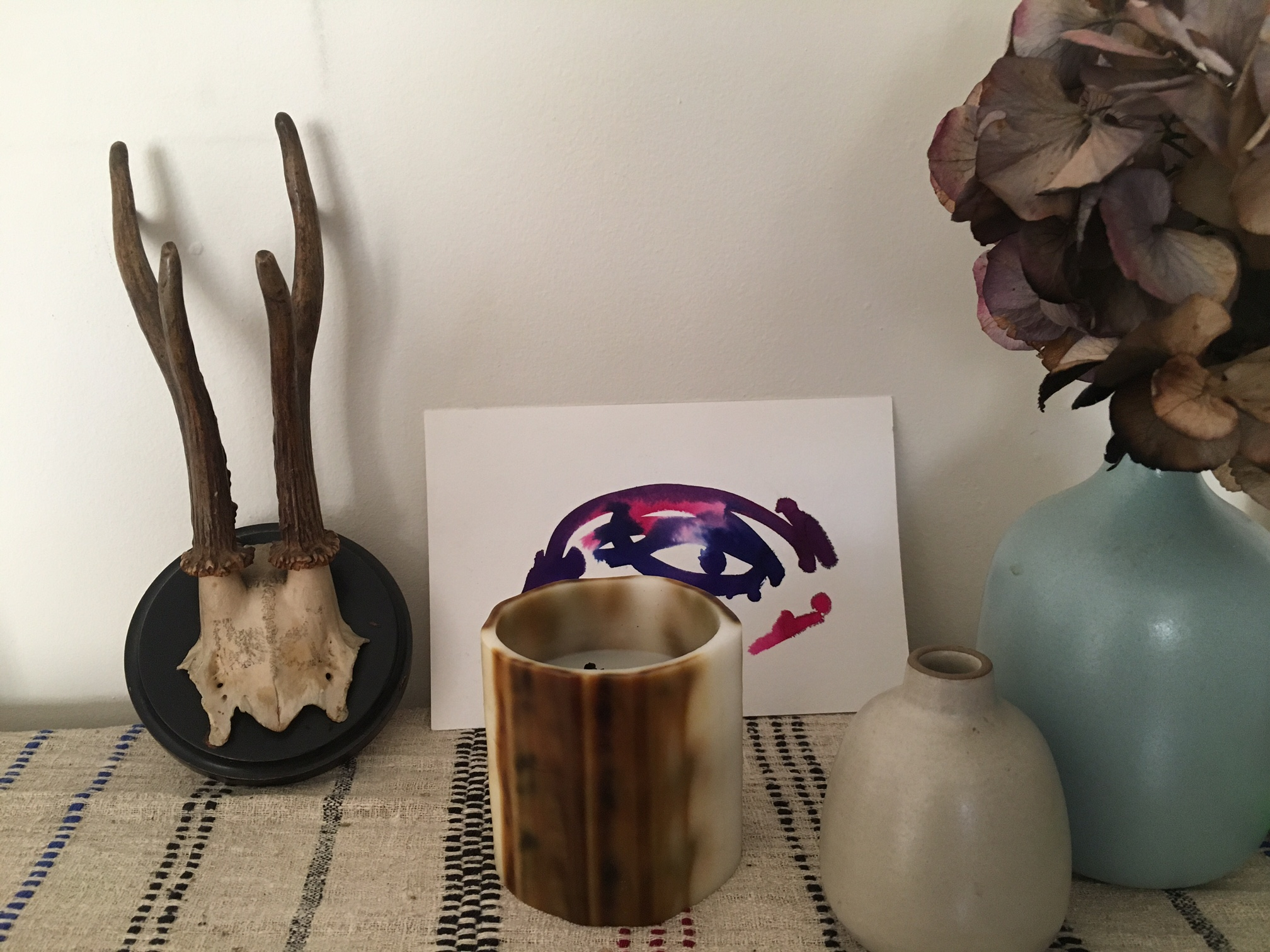 A gift sent to a friend, who shared her still life gathering of objects in a photo.